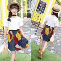 女童夏季套装中大童夏装两件套潮新款韩版时髦套裙儿童装衣服