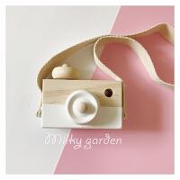 定制ins风多色木质玩具照相机婴儿童房装饰摆件拍摄道具礼物