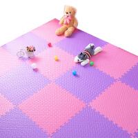 泡沫地垫儿童爬行垫拼图卧室铺地板垫子拼接地垫家用60x60 粉色+
