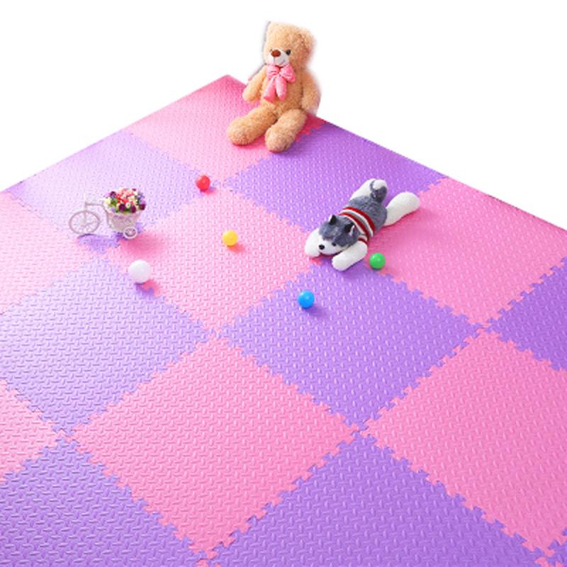 泡沫地垫儿童爬行垫拼图卧室铺地板垫子拼接地垫家用60x60 粉色+ 发货周期:一般在付款后2-90天左右发货,具体发货时间请以与客服协商的时间为准