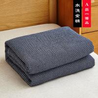 纯棉毛巾被全棉纱布被子单人双人夏季盖毯三层加厚午睡沙发小毯子