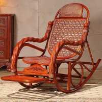 藤椅摇椅阳台休闲大人摇摇椅家用懒人躺椅藤编实木老人午睡逍遥椅