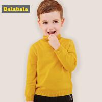 巴拉巴拉男童毛衣宝宝针织衫秋冬2018新款儿童套头线衣高领毛衣女