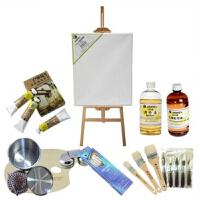 马利11件油画套装油画架 松节油油画颜料笔 12色 18色套装 2款可选