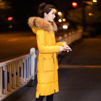 冬季羽绒女棉衣女中长款韩版修身过膝长款棉袄外套潮