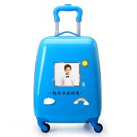 儿童拉杆箱18寸万向轮男女旅行箱卡通行李箱拖箱登机箱