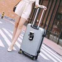 时尚学生行李箱拉杆箱旅行箱密码箱皮箱大容量30寸28寸挂扣手拉箱 灰色 银灰色
