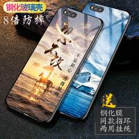 小米note3手机壳 小米5x手机壳 小米note3钢化玻璃全包防摔硅胶套小米5x个性创意潮男女镜面彩绘保护壳套