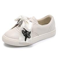 儿童板鞋2018春季新款潮中大童韩版防滑耐磨小白鞋女童运动鞋