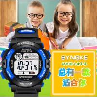 时诺刻 儿童电子手表 生活防水电子表男夜光运动腕表 电子表男学生