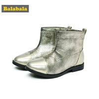 巴拉巴拉儿童靴子女童冬季鞋2018新款保暖短靴冬季鞋潮小童鞋时尚