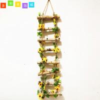 幼儿园室内外走廊装饰空中吊饰仿真楼梯 仿真太阳花实木梯子挂饰