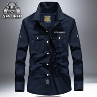 Afs Jeep男长袖衬衫战地吉普秋款军旅风中年大码衬衣长袖67001A