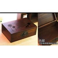 储物百宝箱实木质盒子带锁做旧收纳欧式复古大木箱子樟子松小木箱