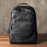 古造真皮男士双肩包头层牛皮韩版商务电脑包旅行背包时尚潮流书包