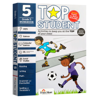美国加州教辅 优等生系列小学五年级综合科目练习册 英文原版 Top Student Grade 5 英语数学STEM科学