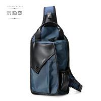 295休闲男士胸包新款潮男单肩包斜挎包运动挎包韩版帆布包5