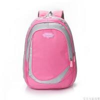 定制批发中小学生书包定制印logo男女儿童双肩背包幼儿园定做印字 粉红色 大头白板