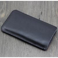纯手工苹果8plus手机套 iphone7plus牛皮保护6s直插套5.5 4.7 4.7裸机版 经典黑 真皮