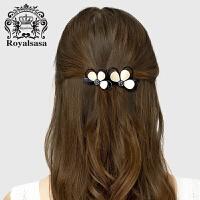 皇家莎莎发饰时尚头饰韩国版横夹 花朵发夹弹簧夹顶夹马尾夹发卡子