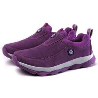 男女鞋秋季中年男士一脚蹬休闲运动老人鞋中老年防滑健步情侣鞋
