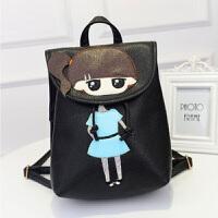 尼龙双肩包包包女女士双肩包背包 新款韩版可爱PU皮卡通儿童双肩包女学生学院风书包休闲旅行背包