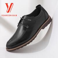 意尔康男鞋时尚男士休闲鞋平底皮鞋商务鞋男士皮鞋