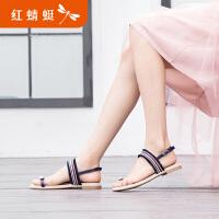 【红蜻蜓抢购,抢完为止】红蜻蜓凉鞋新款搭长裙子的鞋子平底凉鞋女仙女风波西米亚