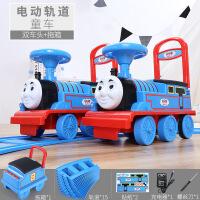 ?越诚托马斯小火车头套装轨道车电动小汽车儿童玩具男孩1-3岁可坐4 官方标配