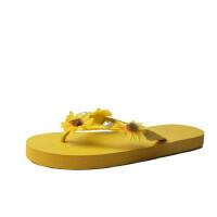 WARORWAR 法国新品YM12-1920夏季韩版平底舒适花朵女鞋潮流时尚潮鞋百搭潮牌凉拖鞋女