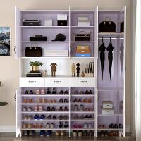 鞋柜家用大容量储物门口玄关柜子门厅衣帽柜简约现代阳台多功能