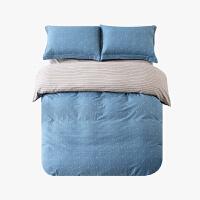 当当优品磨毛四件套 纯棉加厚磨毛保暖床品 双人床单四件套 禄莱