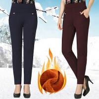 中年女装秋冬款加绒小脚裤弹力长裤中老年高腰女裤妈妈外穿打底裤