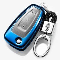 2018款福特福克斯钥匙包汽车钥匙扣壳钥匙保护套汽车改装饰品