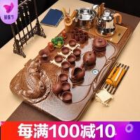 功夫茶具陶瓷家用套装整套茶盘全自动电磁炉一体茶台茶海茶道品质保证 39件