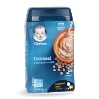 美国原装进口嘉宝米粉 2阶段燕麦米粉米糊227g宝宝辅食婴幼儿食品