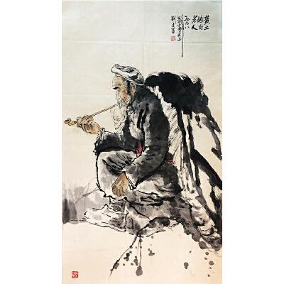 刘文西《黄土地老人图》著名人物画家