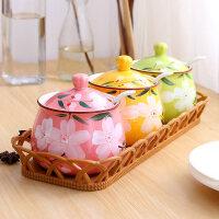 调料盒陶瓷调味罐套装盐罐家用调料罐厨房用品佐料味精盐糖调味盒