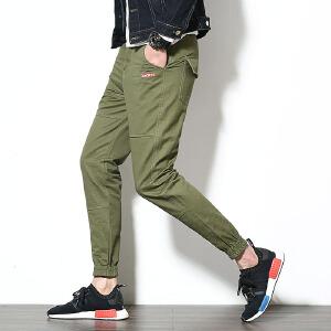 男士休闲裤9九分裤运动裤哈伦裤萝卜裤大码