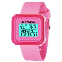 儿童运动电子手表时尚果冻表夜光防水功能