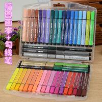 晨光文具48色水彩笔粗三角杆儿童大容量绘画24色36色可水洗水彩笔
