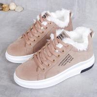 棉靴 女士加绒保暖厚底棉鞋2020冬季韩版女式学生加厚休闲雪地鞋子