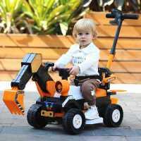 儿童挖掘机玩具车可坐人可坐玩具男孩遥控电动挖土机超大号工程车