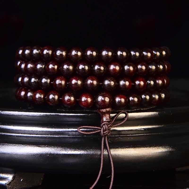 印度小叶紫檀佛珠手链6mm 17.6克   C-429