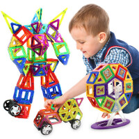 儿童积木磁力片1-2-3-6-7-8-10周岁男孩女孩益智拼装磁性磁铁玩具
