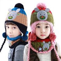 秋冬围巾两件套 2-4-8岁  男女儿童帽子 宝宝帽子围巾套装