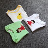 夏天短袖T恤 婴儿女童装夏装女宝宝纯棉短袖衫婴幼儿绣花上衣