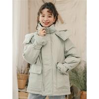 女中长款冬装宽松bf棉衣女学生小棉袄潮外套