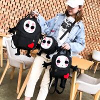 书包女韩版原宿ulzzang 学生校园背包日系卡通呆萌可爱帆布双肩包
