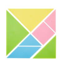 爱好 七巧板塑料大号 智力拼图玩具 教学板专用 塑料彩色百变七巧板 3432 当当自营